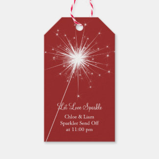 Sparkler in Red Gift Tag