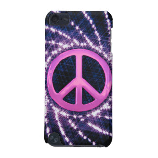 Sparkler Pink Peace Sign Custom iPod Touch Case