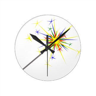 Sparkler Round Clock