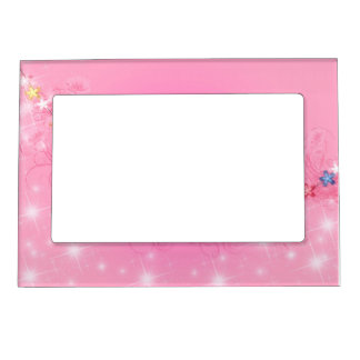 Sparkles And Flowers Magnetic Frame