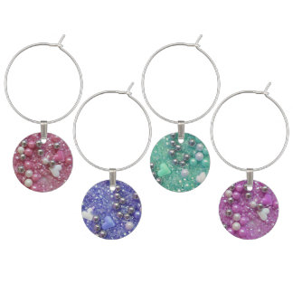 Sparkles and Love Hearts Wine Charm