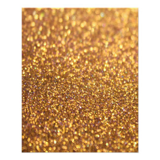 Sparkley Glitter Golden 11.5 Cm X 14 Cm Flyer
