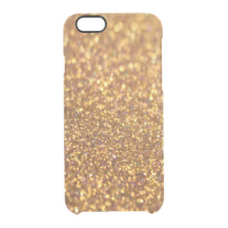 Sparkley Glitter Golden Clear iPhone 6/6S Case