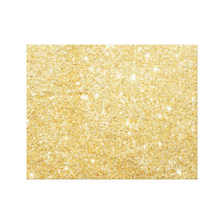 Sparkley Golden Stylish Glitter Canvas Print