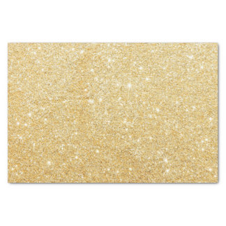Sparkley Golden Stylish Glitter Tissue Paper