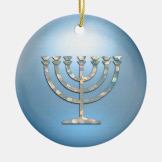 Sparkley Menorah Hanukkah Ornament