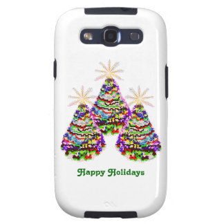 Sparkling Abstract Christmas Trees Design Samsung Galaxy SIII Cases