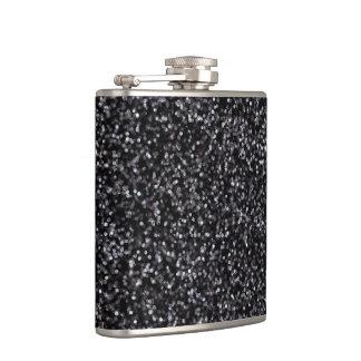 Sparkling Black Glitter Flask