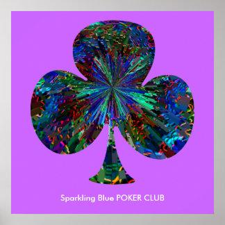 Sparkling Blue POKER CLUB Poster