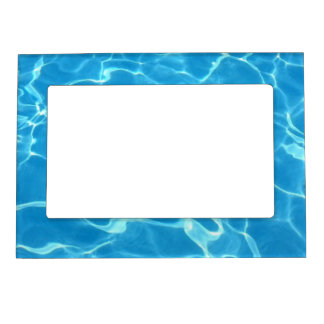 Sparkling Blue Swimming Pool Blue Water Aquatic Magnetic Picture Frame