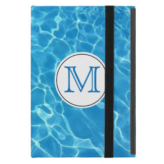 Sparkling Blue Swimming Pool Blue Water Monogram Cover For iPad Mini