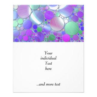 sparkling bubbles purple flyers