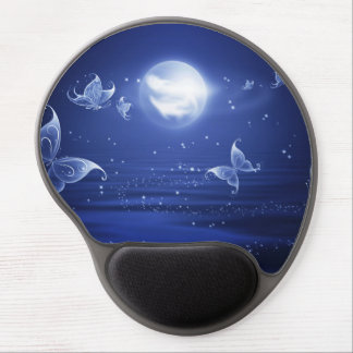 Sparkling Butterflies Luna moths fly by moon light Gel Mouse Pad