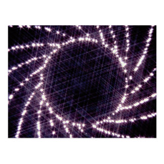Sparkling camera iris postcard