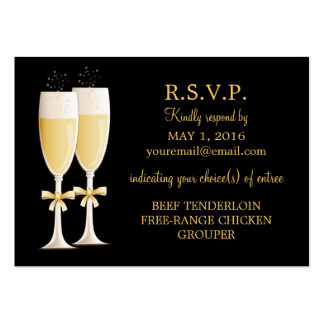 Sparkling Champagne Celebration Response Card Pack Of Chubby Business Cards