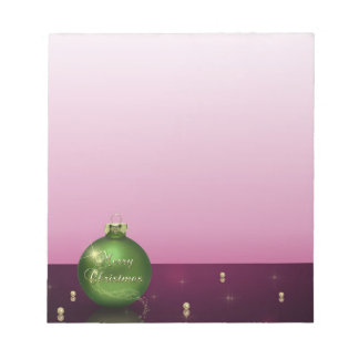 Sparkling Christmas Ornament - Notepad