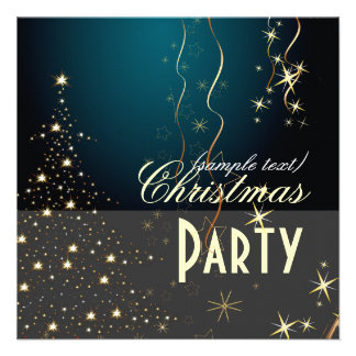 Sparkling Christmas Tree Party invitations