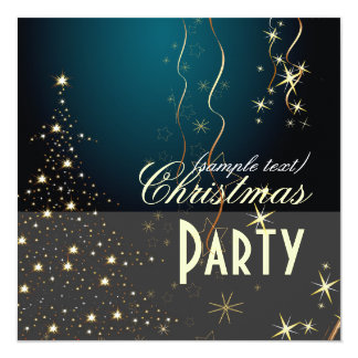 Sparkling Christmas Tree / Party invitations