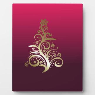 Sparkling Christmas tree Plaque