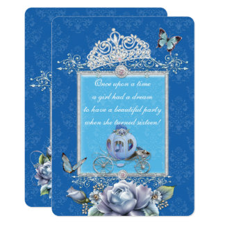 Sparkling Cinderella Style Party Invitations