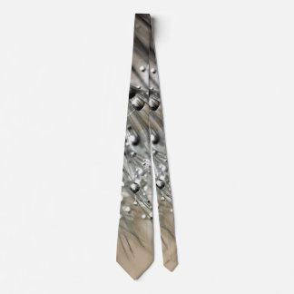 Sparkling Dew Dandelion Khaki Background Tie