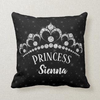 Sparkling Diamond Tiaras - choose your background Cushion