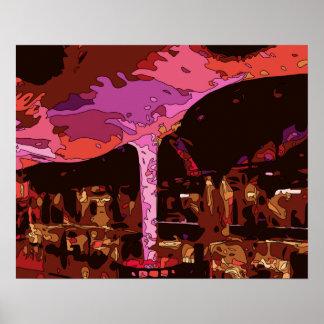 Sparkling Five Star restaurant in Vegas Print
