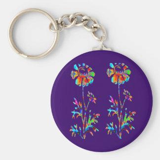 Sparkling Flowers Keychains