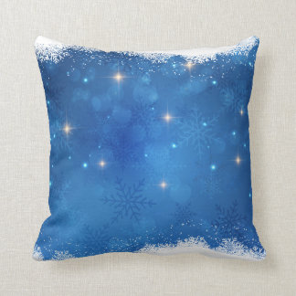 Sparkling Frost Snowflakes Cushion