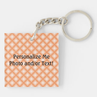Sparkling Gem Tiles Choose Your Custom Color Double-Sided Square Acrylic Key Ring