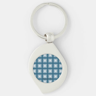 Sparkling Gem Tiles Choose Your Custom Color Silver-Colored Swirl Keychain