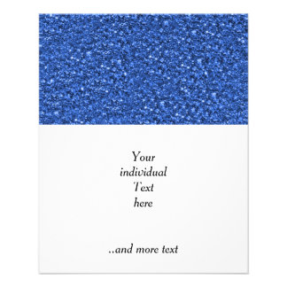 sparkling glitter blue 11.5 cm x 14 cm flyer