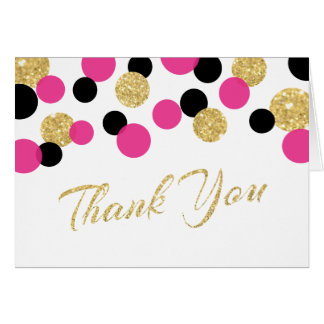 Sparkling Glitter Confetti | Thank You Card