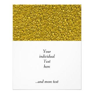 sparkling glitter golden 11.5 cm x 14 cm flyer