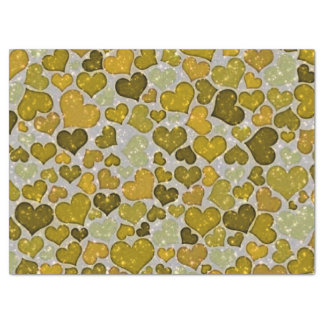 Sparkling glitter hearts tissue paper