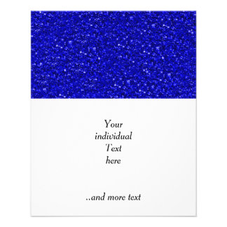 sparkling glitter inky blue 11.5 cm x 14 cm flyer