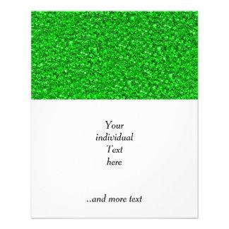 sparkling glitter neon green 11.5 cm x 14 cm flyer