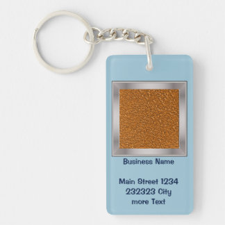 sparkling glitter terra Single-Sided rectangular acrylic key ring