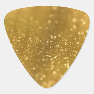 Sparkling Gold Bokeh Guitar Pick