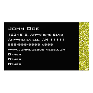 Sparkling Gold Border Business Card