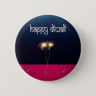 Sparkling Happy Diwali - Button
