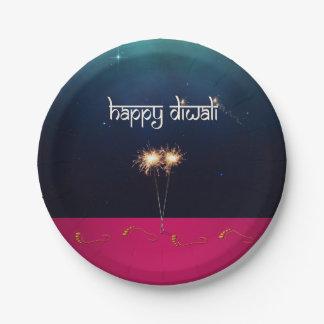 Sparkling Happy Diwali - Paper Plate