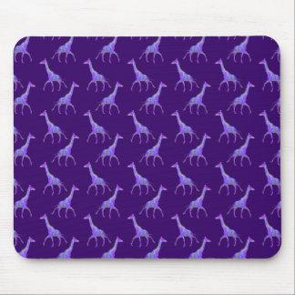 Sparkling Hippie Style Purple Giraffe Mouse Pad