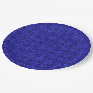 sparkling houndstooth,inky blue (I) 9 Inch Paper Plate