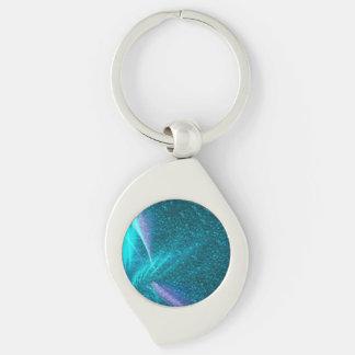 sparkling lights aqua key chain