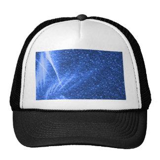 sparkling lights blue trucker hat