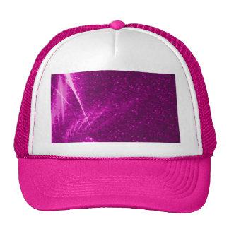 sparkling lights pink mesh hats