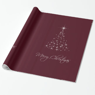 Sparkling Lights Tree Red Wrapping Paper