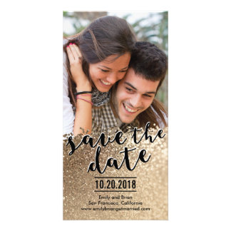 Sparkling Love Save The Date Photo Cards