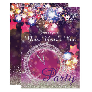 Sparkling New Year's Eve Party Card